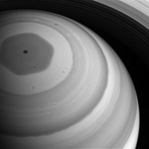 Cassini best 2016 Saturn north=pole